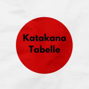 Katakana Lernen